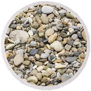 Stone Pebbles Patterns Round Beach Towel by John Williams