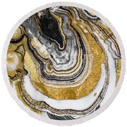 Stone Prose Round Beach Towel by Mindy Sommers