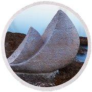 Stone Sails Round Beach Towel