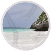 Round Beach Towel featuring the photograph Stone Turtle by Glenn Gordon
