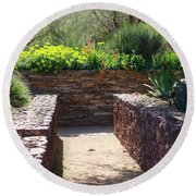 Stone Walkway Round Beach Towel by Kathryn Meyer
