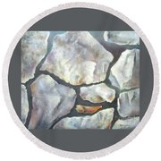 Stone Wall Round Beach Towel