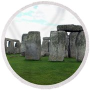 Round Beach Towel featuring the photograph Stonehenge 1 by Francesca Mackenney