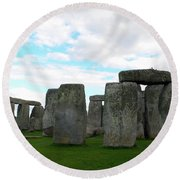 Round Beach Towel featuring the photograph Stonehenge 2 by Francesca Mackenney