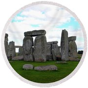 Round Beach Towel featuring the photograph Stonehenge 3 by Francesca Mackenney