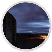 Round Beach Towel featuring the photograph Stonehenge And The Columbia by Cat Connor