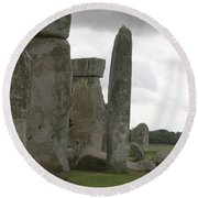 Stonehenge Side Pillars Round Beach Towel