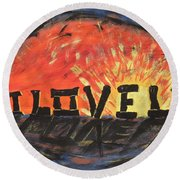 Stonehenge Sunrise Round Beach Towel