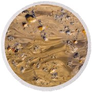 Stones In A Mud Water Wash Round Beach Towel by John Williams