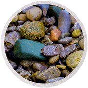 Stones Round Beach Towel by Kevin Blackburn