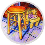 Stool Round Beach Towel