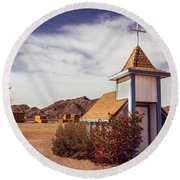 Stop Rest Worship Round Beach Towel by Robert Bales