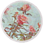 Stop To Smell The Roses Round Beach Towel