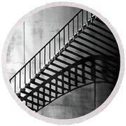 Storage Stairway Round Beach Towel by Christopher McKenzie