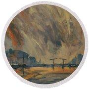 Storm 18012018 Amstel Amsterdam Round Beach Towel