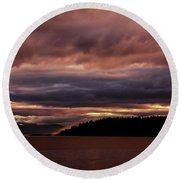 Storm 3 Round Beach Towel by Elaine Hunter