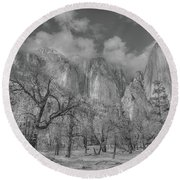 Storm A Brewing Round Beach Towel