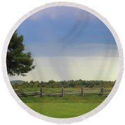 Storm At 258.6 Round Beach Towel
