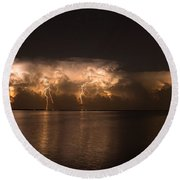 Storm Before Dawn Round Beach Towel