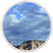Storm Breaks Over Virgin River Canyon Round Beach Towel