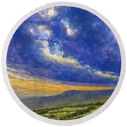 Storm Brewing In Donegal Round Beach Towel