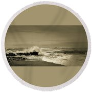 Round Beach Towel featuring the photograph Storm Brewing by Samuel M Purvis III