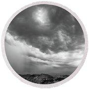 Storm Clouds IIi Round Beach Towel