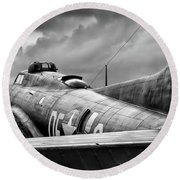 Storm Couds Over Memphis Belle - 2017 Christopher Buff, Www.avia Round Beach Towel