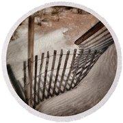 Storm Fence Series No. 2 Round Beach Towel