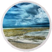 Storm Over Yamacraw Round Beach Towel