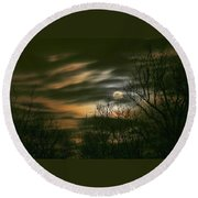 Storm Rollin' In Round Beach Towel