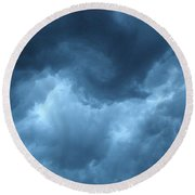 Round Beach Towel featuring the photograph Storm Rolling In by Angie Rea