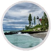 Storm Rolling In Round Beach Towel