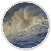 Storm Waves Round Beach Towel