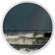 Stormlight Seaside Cove Round Beach Towel