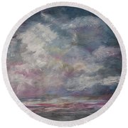 Storm's Approaching Round Beach Towel