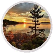 Round Beach Towel featuring the photograph Storms Never Lasts by Rose-Marie Karlsen