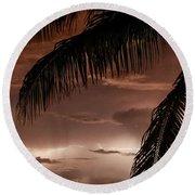 Storms On The Horizon Round Beach Towel