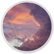 Stormy Clouds Over Texas Round Beach Towel