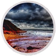 Stormy Day Round Beach Towel by Blair Stuart