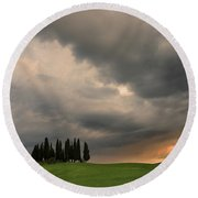 Round Beach Towel featuring the photograph Stormy Day by Yuri Santin