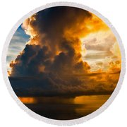 Stormy Florida Keys Round Beach Towel