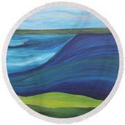 Stormy Lake Round Beach Towel