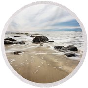 Stormy Maine Morning #2 Round Beach Towel