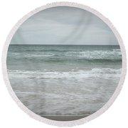 Stormy Sky Round Beach Towel by Helen Northcott