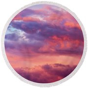 Round Beach Towel featuring the photograph Stormy Southwest Sunset Horizontal by SR Green
