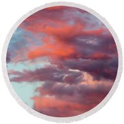 Round Beach Towel featuring the photograph Stormy Southwest Sunset Vertical by SR Green