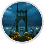 Stormy St. Johns Round Beach Towel