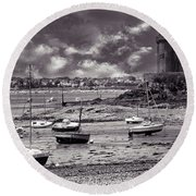 Round Beach Towel featuring the photograph Stormy Weather by Elf Evans