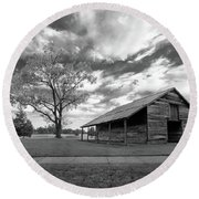 Round Beach Towel featuring the photograph Stormy Weather by George Randy Bass